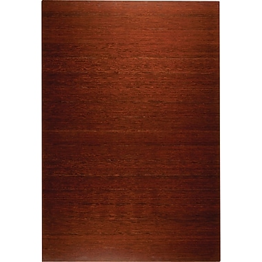 Anji Mountain Deluxe Roll-Up Bamboo Chair Mat, Rectangular, 48in. x 72in., Dark Cherry