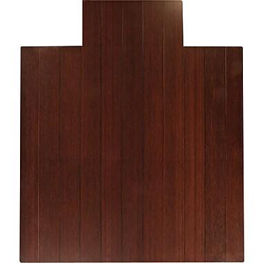 Anji Mountain Mountain 52''x44'' Bamboo Chair Mat for Hard Floor, Rectangular w/Lip, Dark Cherry (AMB24006W)