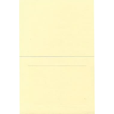 JAM Paper® Blank Foldover Cards, A7 size, 5 x 6 5/8, 80lb Strathmore Ivory Wove Panel, 25/pack (37806093)