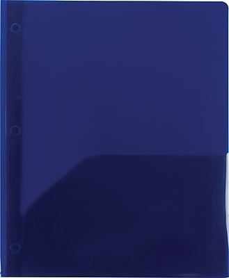 2 Pocket Plastic Folder Navy
