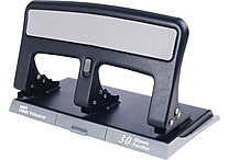 Staples One-Touch™ 26614 Heavy-Duty 3-Hole Punch 30-Sheet Capacity, Black