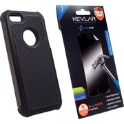 Rugged Case + Shatter Proof Screen Protector for iPhone 5/5s, Black