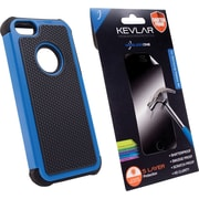 Rugged Case + Shatter Proof Screen Protector for iPhone 5/5s, Blue