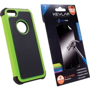 Rugged Case + Shatter Proof Screen Protector for iPhone 5/5s, Green