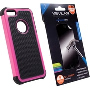 Rugged Case + Shatter Proof Screen Protector for iPhone 5/5s, Pink