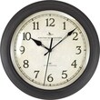 FirsTime® Bronze Whisper 11in. Round Wall Clock, Bronze