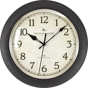 "FirsTime® Bronze Whisper 11"" Round Wall Clock, Bronze"