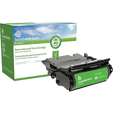 Sustainable Earth by Staples® Reman Black Toner High Yield, Lexmark T630 (SEBT630R)