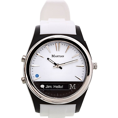 Martian Notifier Smartwatch, White