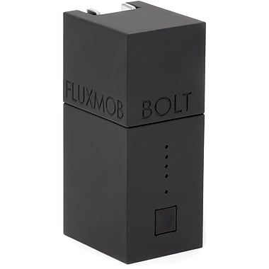 Fluxmob BOLT Battery Backup and Wall Charger, Stealth