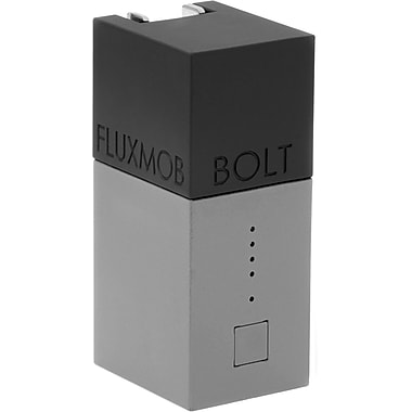 Fluxmob BOLT Battery Backup and Wall Charger, Graphite