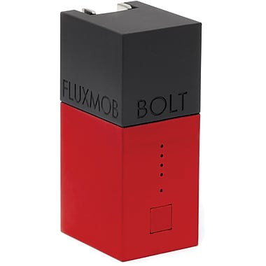 Fluxmob BOLT Battery Backup and Wall Charger, Chrimson
