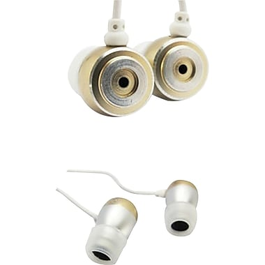 SecureFit Metallic iBuds, Silver and Gold