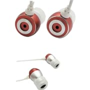 SecureFit Metallic iBuds, Red