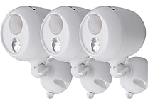 3-Pack Mr. Beams MB363 Wireless LED Spotlight with Motion Sensor, White