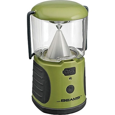 Mr. Beams UltraBright Weatherproof LED Lantern with USB Backup Battery Charger, Green