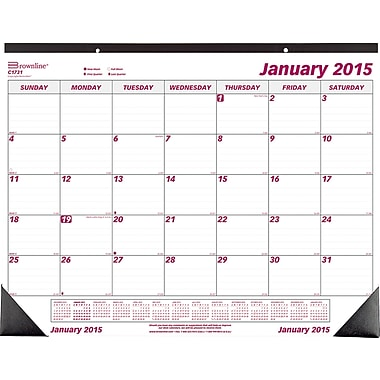 2015 Brownline® Monthly Desk Pad, 22in. x 17in.
