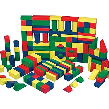 S&S® Colored Wooden Block Set, 65/Set
