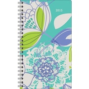 Staples® 2015 Lace Petals Pocket Weekly/Monthly Planner, January - December, 3 5/8 x 6 3/16