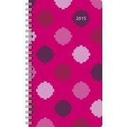 Staples® 2015 Berry Fizz Pocket Weekly/Monthly Planner, January - December, 3 5/8 x 6 3/16