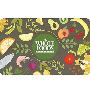 Whole Foods Market Gift Cards, $50, $100, or $200