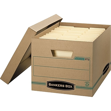 Bankers Box® Enviro Stor™ Letter/Legal Storage Box, 6/Pack (9726)