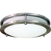 HomeSelects Saturn 16 Glass and Brushed Nickel Metal Flush Mount Light