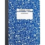 Staples® Composition Notebook, College Ruled, Blue, 9-3/4 x