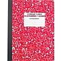 Staples® Composition Notebook, College Ruled, Red, 9-3/4 x