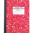 Staples® Composition Notebook, College Ruled, Red, 9-3/4in. x 7-1/2in.