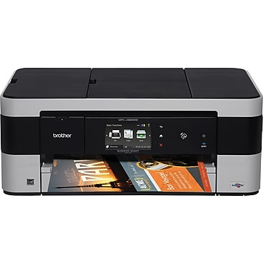 Brother mfcj4620dw color inkjet multifunction printer for Staples color printing cost per page