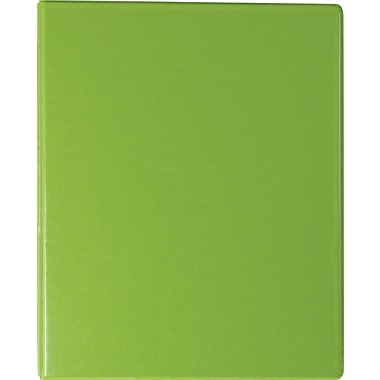 Staples Standard 1-Inch Round Ring Mini View Binder, Chartreuse (26323)