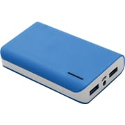 Urge Basics 6,000mAh Dual-Port Power Bank with Built-in Flashlight, Blue
