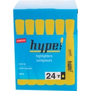 Staples® Hype!™ Tank Highlighter, Chisel Tip, Yellow, 24/Pack