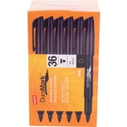 Staples® Duramark™ Permanent Markers, Bullet Tip, Black, 36/Pack