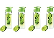 Flavour It 2 Go Water Bottles, 4/Pack, Assorted Colors