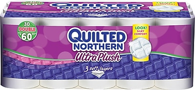 Quilted Northern Ultra Soft & Strong or Ultra Plush Tissue - 30 Rolls/Case