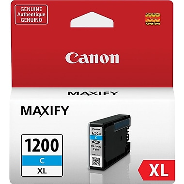Canon PGI-1200 XL Cyan Ink Cartridge (9196B001), High Yield