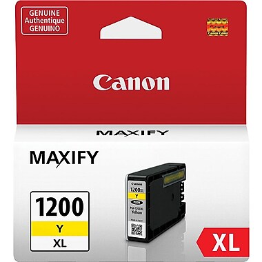 Canon PGI-1200XL Yellow Ink Cartridge (9198B001), High Yield
