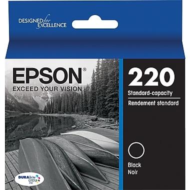 Epson DURABrite Ultra 220 Black Ink Cartridge, (T220120-S)