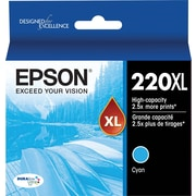Epson Cyan Ink Cartridge, Hi-Capacity (T220XL220)