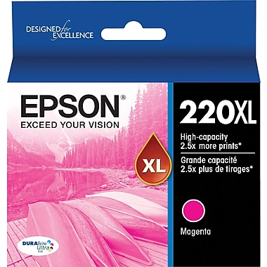 Epson DURABrite Ultra 220XL Magenta Ink Cartridge, (T220XL320-S), High Yield