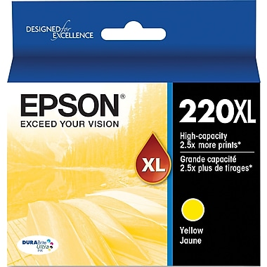 Epson Yellow Ink Cartridge, Hi-Capacity (T220XL420)