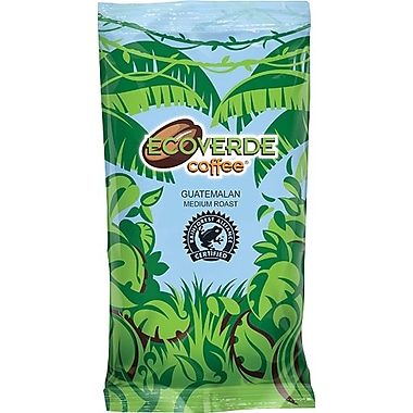 New and Improved Packaging, Same Great Coffee! Ecoverde Coffee ® Guatemalan Medium Roast Ground Coffee, 2 oz.