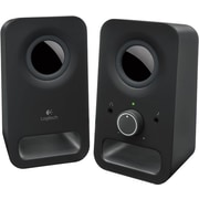 Logitech Z150 6W Multimedia Speakers with Stereo Sound for Multiple Devices, Black (980-000802)