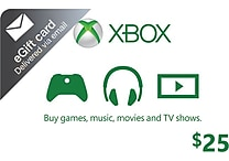 Microsoft Xbox Cash Gift Card $25 (email delivery)