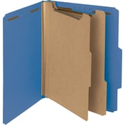 "Pressboard Classification Folder, 2"" Exp, 2 Dividers, Letter, , Dark Blue, 10/Bx"