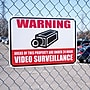 Video Surveillance Security Warning Sign Aluminum with Reflective