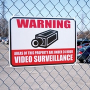 Video Surveillance Security Warning Sign Aluminum with Reflective Coating 12x18 inches