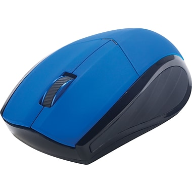 Staples® Wireless Mouse, Blue